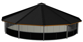 3D drawing of a closed roof from Molenkoning model Full Option