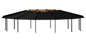 track roof 3d design