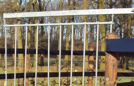 aluminium bars pusher gates