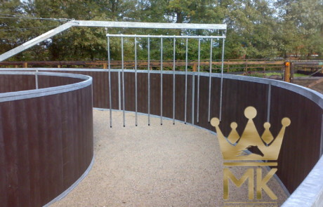 Standar Pusher gates with aluminum bars