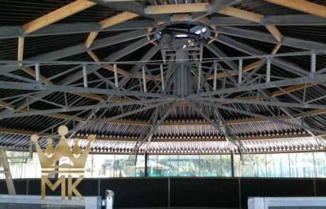 Gesloten dak Full Option Molenkoning voor het installeren van een skywalker