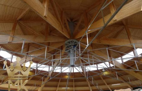 skywalker installed to wooden roof