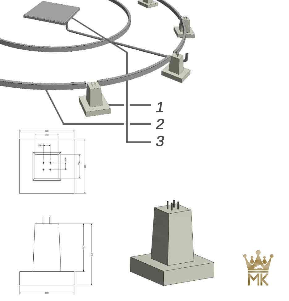 自己設置用の基礎:3D