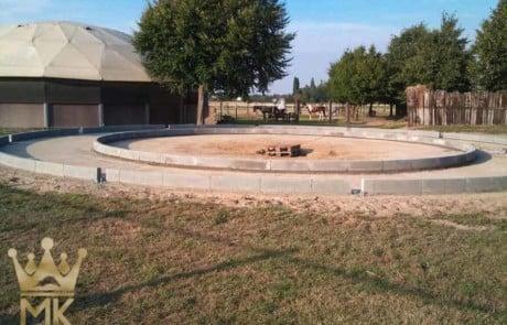 Roundフェンスの基礎–ラジアルカーブ