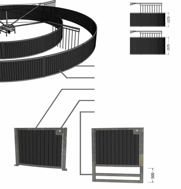 3D design of the round fence