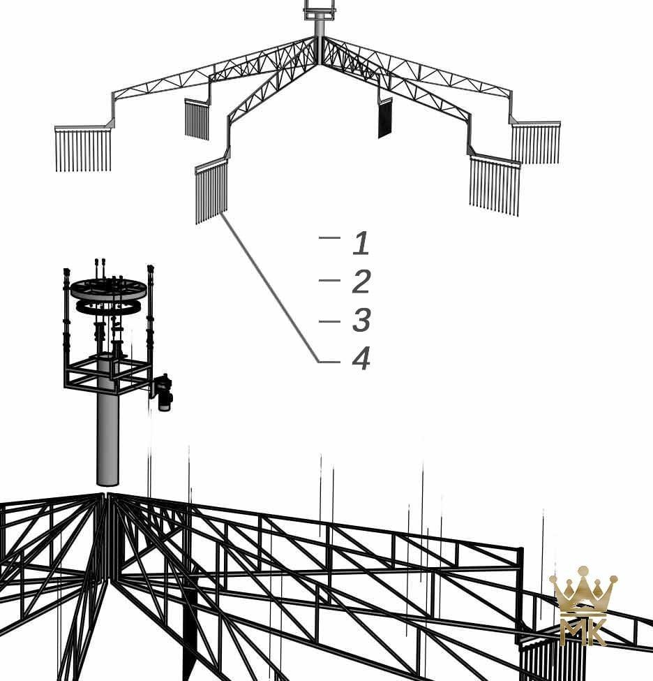 3D ontwerp van een skywalker