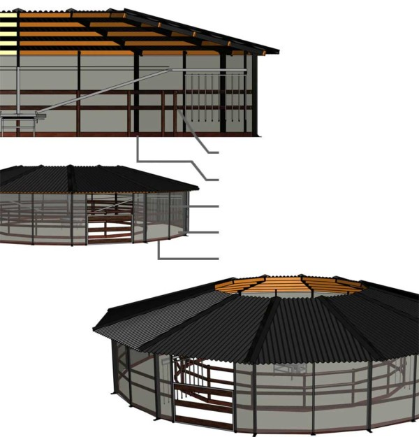 Hoefslagoverkapping comfort 3D ontwerp