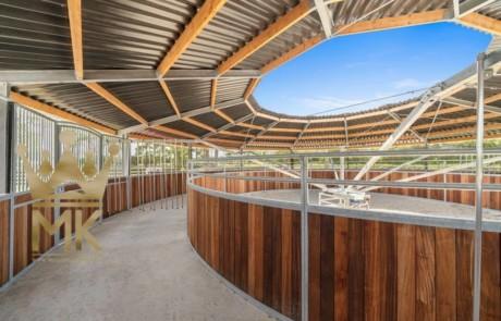 Copertura percorso (tetto) per giostre con recinto circolare