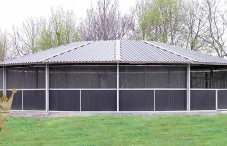 Full Option roof for horse exerciser Molenkoning