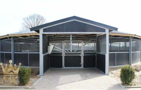 Equistri architettonici dell'entrata coperta