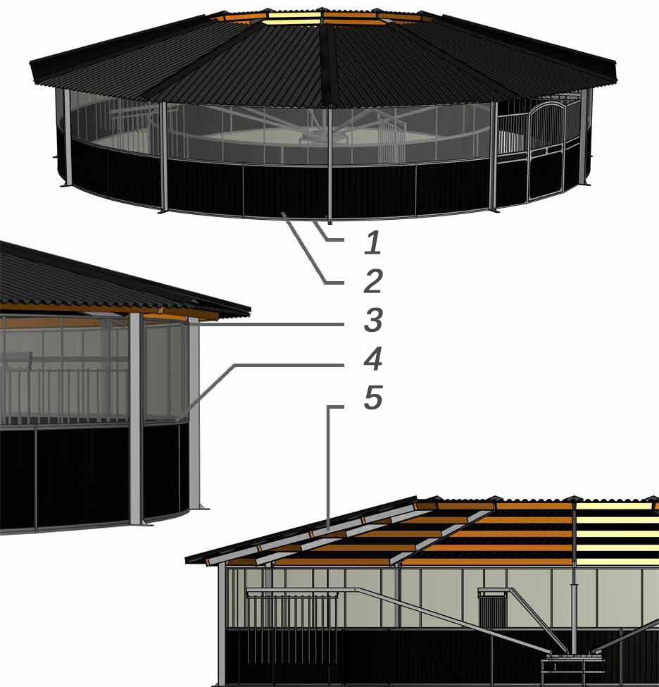 Track roof full option Molenkoning