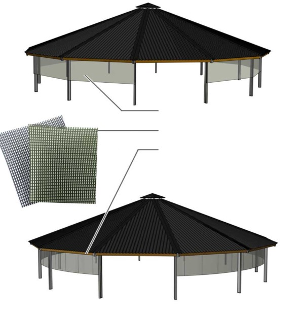 3d design of the windbreak net