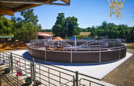 Round fence con tubos